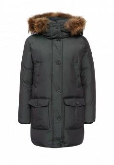 Пуховик, Baon, цвет: зеленый. Артикул: BA007EWLOC54. Женская одежда / Верхняя одежда / Пуховики и зимние куртки