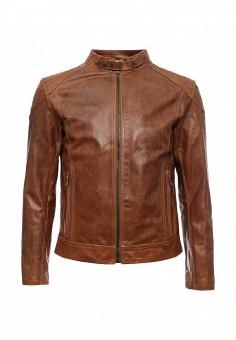 Куртка кожаная, Bata, цвет: коричневый. Артикул: BA060EMKXA44. Мужская одежда / Верхняя одежда / Кожаные куртки