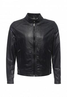 Куртка кожаная, Bata, цвет: синий. Артикул: BA060EMQDY28. Мужская одежда / Верхняя одежда / Кожаные куртки