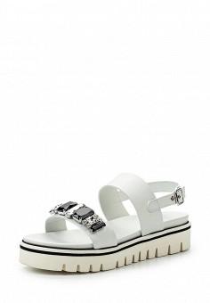 Сандалии, Baldinini, цвет: белый. Артикул: BA097AWPUX75. Женская обувь