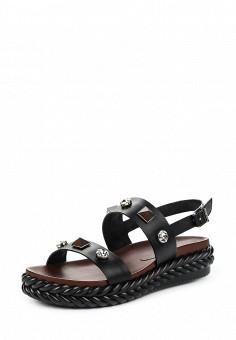 Сандалии, Baldinini, цвет: черный. Артикул: BA097AWPUX83. Женская обувь