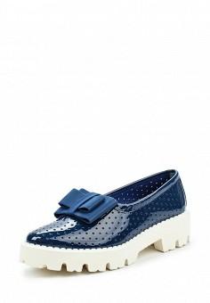 Лоферы, Baldinini, цвет: синий. Артикул: BA097AWPUY16. Женская обувь