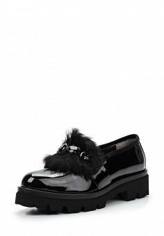 Лоферы, Baldinini, цвет: черный. Артикул: BA097AWTBZ21. Женская обувь