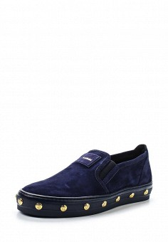 Слипоны, Baldinini, цвет: синий. Артикул: BA097AWTCB28. Женская обувь