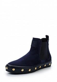 Слипоны, Baldinini, цвет: синий. Артикул: BA097AWTCB33. Женская обувь