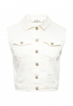 Жилет джинсовый, Befree, цвет: белый. Артикул: BE031EWSTB73. Женская одежда / Верхняя одежда / Жилеты