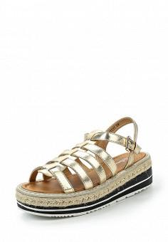 Босоножки, Bellamica, цвет: золотой. Артикул: BE058AWSZD60. Женская обувь / Босоножки