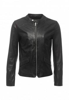 Куртка кожаная, Blouson, цвет: черный. Артикул: BL033EMQGN48. Мужская одежда / Верхняя одежда / Кожаные куртки