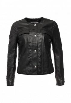 Куртка кожаная, Blouson, цвет: черный. Артикул: BL033EWQGN30. Премиум