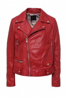 Куртка кожаная, Blouson, цвет: красный. Артикул: BL033EWQGN33. Премиум