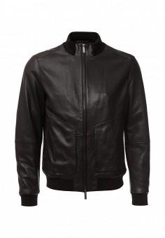 Куртка кожаная, Boss, цвет: коричневый. Артикул: BO246EMJTT31. Мужская одежда / Верхняя одежда / Кожаные куртки