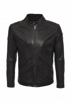 Куртка кожаная, Boss Orange, цвет: коричневый. Артикул: BO456EMMQL56. Мужская одежда / Верхняя одежда / Кожаные куртки