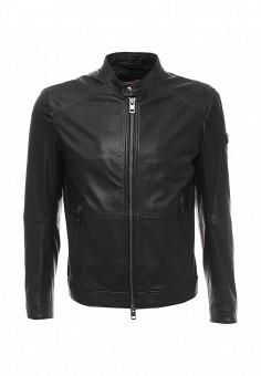 Куртка кожаная, Boss Orange, цвет: черный. Артикул: BO456EMORW41. Мужская одежда / Верхняя одежда / Кожаные куртки