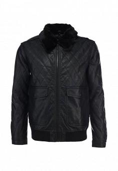 Куртка кожаная, Brave Soul, цвет: черный. Артикул: BR019EMDFU08. Мужская одежда / Верхняя одежда
