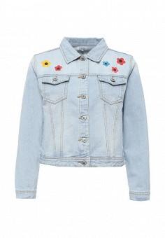 Куртка джинсовая, Brigitte Bardot, цвет: голубой. Артикул: BR831EWQAT35. Женская одежда / Верхняя одежда / Джинсовые куртки