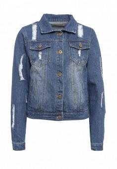Куртка джинсовая, By Swan, цвет: синий. Артикул: BY004EWRPM68. Женская одежда / Тренды сезона / Летний деним / Джинсовые куртки