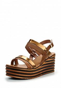 Босоножки, Catisa, цвет: коричневый. Артикул: CA072AWTFP17. Женская обувь / Босоножки
