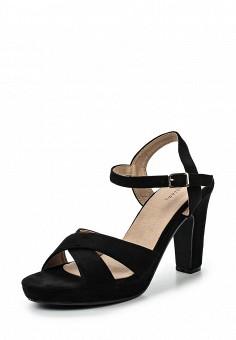 Босоножки, Catisa, цвет: черный. Артикул: CA072AWTFP70. Женская обувь / Босоножки