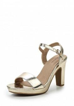 Босоножки, Catisa, цвет: золотой. Артикул: CA072AWTFP77. Женская обувь / Босоножки