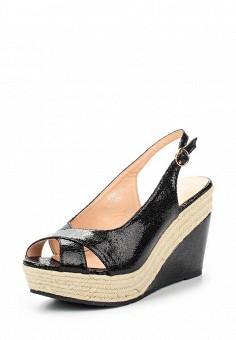 Босоножки, Catisa, цвет: черный. Артикул: CA072AWTOT67. Женская обувь / Босоножки