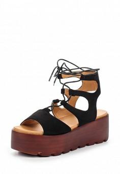 Босоножки, Catisa, цвет: черный. Артикул: CA072AWTOT74. Женская обувь / Босоножки