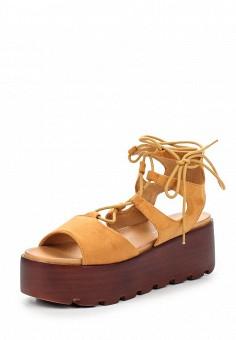 Босоножки, Catisa, цвет: коричневый. Артикул: CA072AWTOT75. Женская обувь / Босоножки