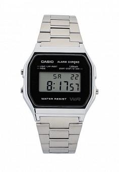 Часы, Casio, цвет: серебряный. Артикул: CA077DUGXX95. Женские аксессуары / Часы