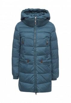 Куртка утепленная, Clasna, цвет: синий. Артикул: CL016EWNLR78. Женская одежда / Верхняя одежда / Пуховики и зимние куртки