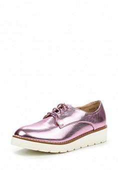 Ботинки, Clowse, цвет: розовый. Артикул: CL020AWPQK47. Женская обувь / Ботинки / Низкие ботинки