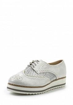 Ботинки, Clowse, цвет: серебряный. Артикул: CL020AWSTE40. Женская обувь / Ботинки / Низкие ботинки