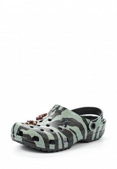 Сабо, Crocs, цвет: зеленый. Артикул: CR014AWVCV27. Премиум / Обувь / Сандалии