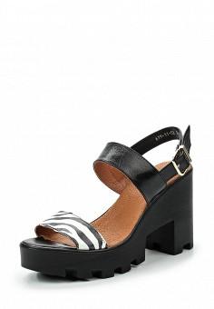 Босоножки, Dino Ricci Trend, цвет: черно-белый. Артикул: DI029AWQYY34. Женская обувь / Босоножки