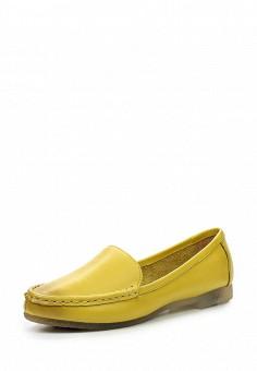 Мокасины, Dino Ricci Select, цвет: желтый. Артикул: DI034AWQYW54. Женская обувь / Мокасины и топсайдеры