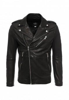 Куртка кожаная, Diesel, цвет: черный. Артикул: DI303EMLHG64. Мужская одежда / Верхняя одежда / Кожаные куртки
