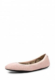 Балетки, DKNY, цвет: розовый. Артикул: DK001AWIRK92. Премиум / Обувь / Балетки
