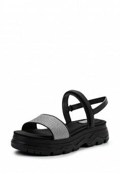 Сандалии, DKNY, цвет: черно-белый. Артикул: DK001AWPVI17. Премиум / Обувь / Сандалии