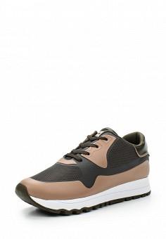 Кроссовки, DKNY, цвет: бежевый. Артикул: DK001AWVBF32. Женская обувь / Кроссовки и кеды