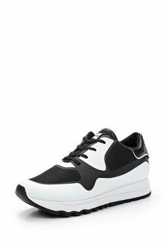 Кроссовки, DKNY, цвет: черно-белый. Артикул: DK001AWVBF34. Женская обувь / Кроссовки и кеды