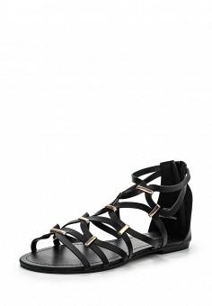 Сандалии, Dorothy Perkins, цвет: черный. Артикул: DO005AWIKV78. Женская обувь / Сандалии