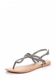 Сандалии, Dorothy Perkins, цвет: серебряный. Артикул: DO005AWSQI41. Женская обувь / Сандалии