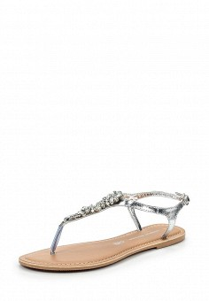 Сандалии, Dorothy Perkins, цвет: серебряный. Артикул: DO005AWSXH26. Женская обувь / Сандалии