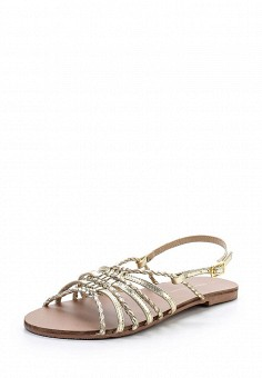 Сандалии, Dorothy Perkins, цвет: золотой. Артикул: DO005AWUZR34. Женская обувь / Сандалии