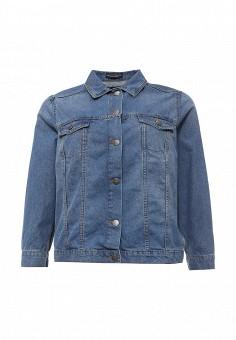 Куртка джинсовая, Dorothy Perkins Curve, цвет: голубой. Артикул: DO029EWSQI26. Женская одежда / Верхняя одежда / Джинсовые куртки