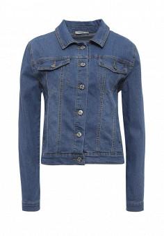 Куртка джинсовая, Dorado, цвет: синий. Артикул: DO035EWRUQ17. Женская одежда / Верхняя одежда / Джинсовые куртки
