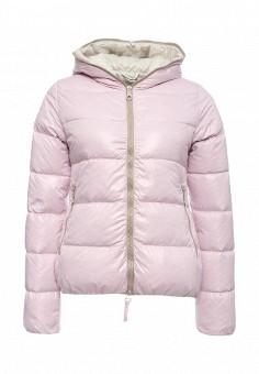Пуховик, Duvetica, цвет: розовый. Артикул: DU004EWMBE31. Женщинам / Одежда / Верхняя одежда