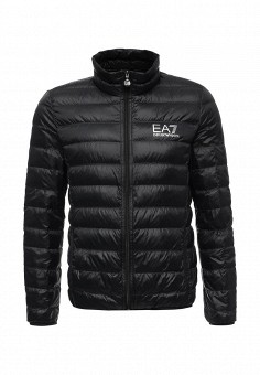 Пуховик, EA7, цвет: черный. Артикул: EA002EMUEE40. Мужская одежда / Верхняя одежда / Пуховики и зимние куртки