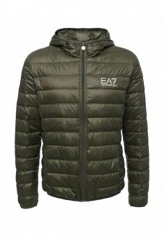 Пуховик, EA7, цвет: хаки. Артикул: EA002EMUEK27. Мужская одежда / Верхняя одежда / Пуховики и зимние куртки