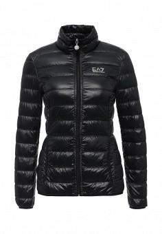Пуховик, EA7, цвет: черный. Артикул: EA002EWJXR14. Женская одежда / Верхняя одежда / Пуховики и зимние куртки