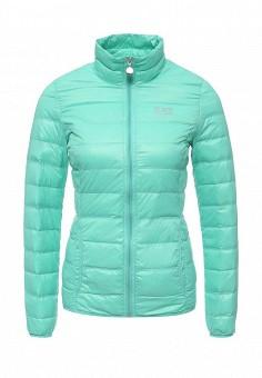 Пуховик, EA7, цвет: мятный. Артикул: EA002EWRBB93. Женская одежда / Верхняя одежда / Пуховики и зимние куртки