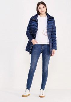 Пуховик, EA7, цвет: синий. Артикул: EA002EWUEJ17. Премиум / Одежда / Верхняя одежда / Пуховики и зимние куртки